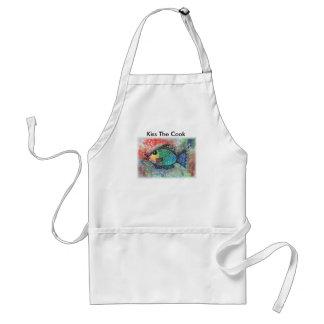 Apron. FISH ART, FISHY, Kiss The Cook Standard Apron