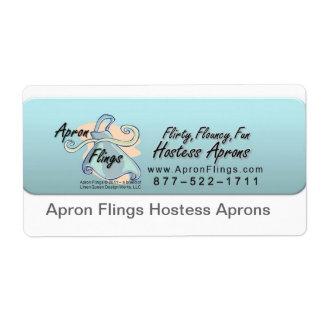 Apron Flings Logo-Banner, Apron Flings Hostess ... Shipping Label