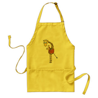 "apron ""funny giraffe"" cartoon"