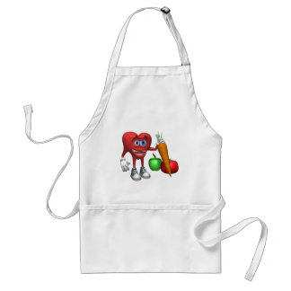 Apron-Health Heart Fruits and Veggies Standard Apron
