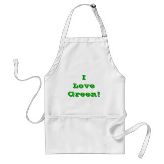 Apron I Love Green