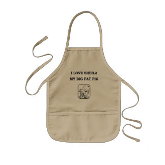 Apron, I love Sheila my Big Fat Pig, Kids Apron