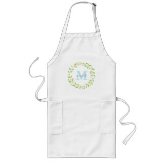 Apron | Leaf Wreath Monogram with Name