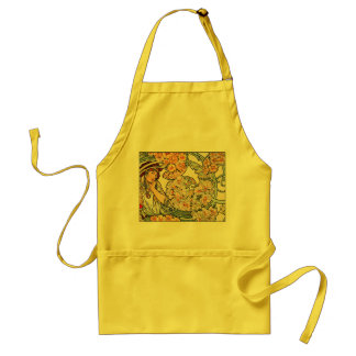Apron:  Mucha - Language of Flowers Standard Apron