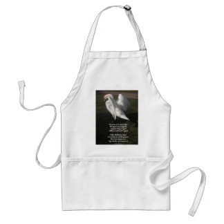 Apron Poem Swans Are Majestic  By Ladee Basset