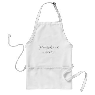 Apron: Schrondinger wave equation, printed Standard Apron