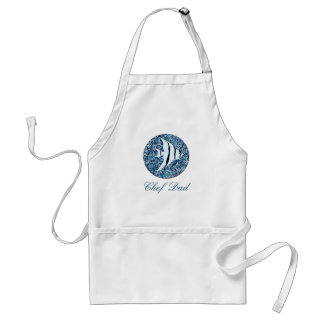 Apron_Template_Tropical Fish_Chef Dad-ANY NAME Standard Apron