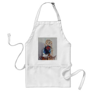 Apron with game bird design
