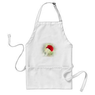"""Apron with red poppy """"Be happy!"""""""