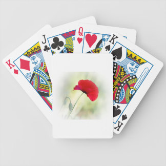 """Apron with red poppy """"Be happy!"""" Bicycle Playing Cards"""