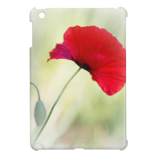 "Apron with red poppy ""Be happy!"" Cover For The iPad Mini"