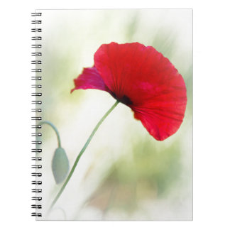 "Apron with red poppy ""Be happy!"" Notebook"