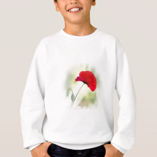 "Apron with red poppy ""Be happy!"" Sweatshirt"