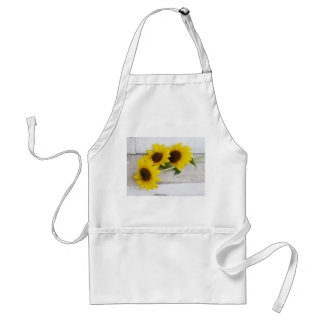 Apron with sunflowers