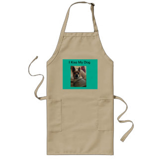 Aprons America I Kiss My Dog Add Your Photo