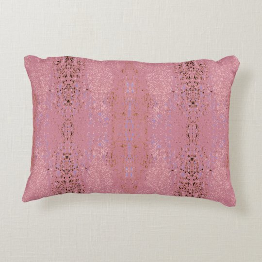 'Aptitude' Rose Pink Pattern Decorative Pillow