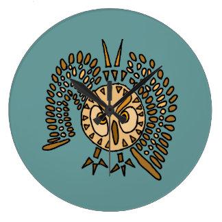 AQ- Abstract Art owl Wall Clock