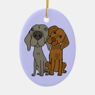 AQ- Weimaraner and Pointer Ornament