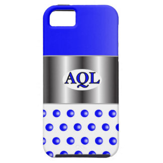 AQL WHITE BLUE  ONE SERIES iPhone 5 CASE