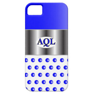 AQL WHITE BLUE  ONE SERIES iPhone 5 COVER