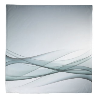 Aqua Abstract (1 side) Queen Duvet Cover
