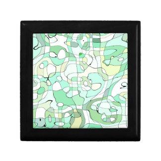Aqua abstract gift box