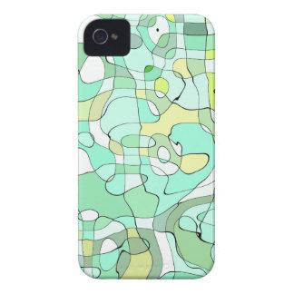 Aqua abstract iPhone 4 cases