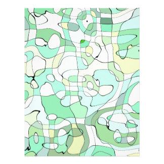Aqua abstract letterhead