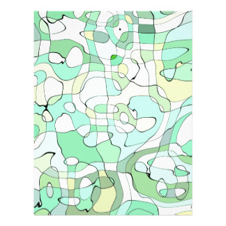 Aqua abstract letterhead design