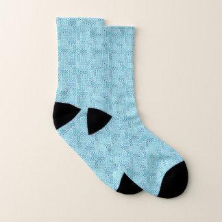 Aqua Abstract Memphis Design Socks