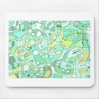 Aqua abstract mouse pad