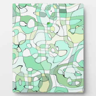 Aqua abstract plaque