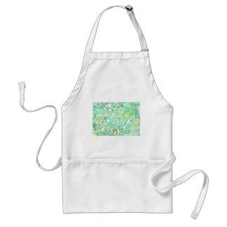 Aqua abstract standard apron