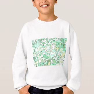 Aqua abstract sweatshirt