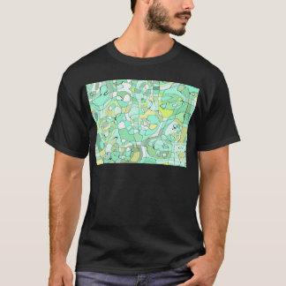 Aqua abstract T-Shirt