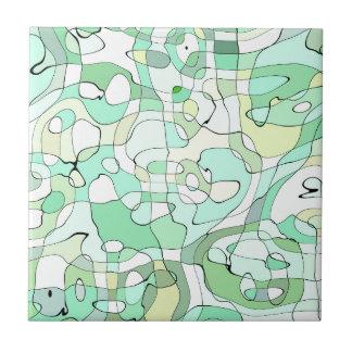 Aqua abstract tile