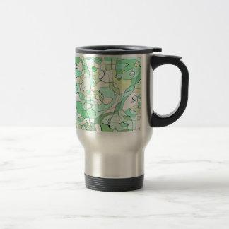Aqua abstract travel mug