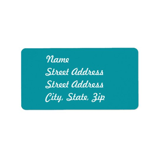 Aqua   Address Sticker