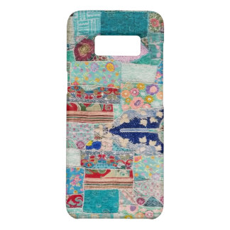 Aqua and Blue Quilt Tapestry Design Case-Mate Samsung Galaxy S8 Case