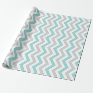 Aqua and gray chevron pattern