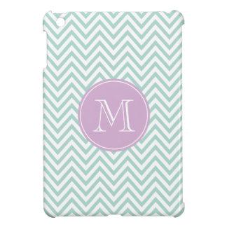 Aqua and Lilac Chevron Custom Monogram iPad Mini Cases