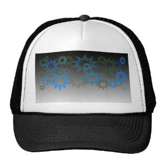 Aqua and Moss Stars Trucker Hat