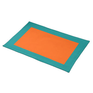 Aqua and Orange Placemat