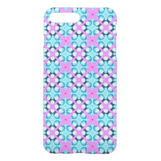 Aqua and Pink Pattern Background iPhone 7 Plus Case