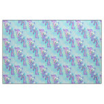 aqua and purple giraffes fabric