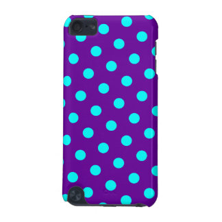 Aqua and Purple Polka Dots iPod Touch 5G Covers
