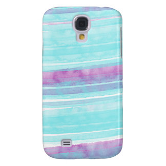 Aqua and Purple Watercolor Samsung Galaxy S4 Case