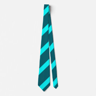 Aqua and Teal Regimental Stripe Tie