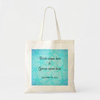 Aqua and Turquoise Starfish Wedding. Budget Tote Bag