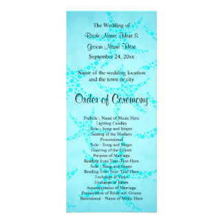 Aqua and Turquoise Starfish Wedding. Rack Cards